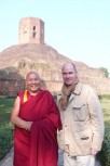 Dr. Hubertus Hoffmann meets the Tibetan monk Lhakdor