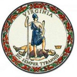 The seal of the state of Virgina